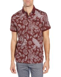 3798e114894fd4 Ted Baker - Slim Fit Exotic Botanical Print Polo - Lyst