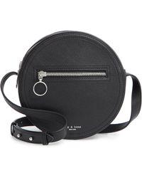 db85d517c1cd Lyst - Rag   Bone Aston Leather Mini Crossbody Bag in Black