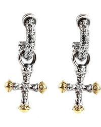 Konstantino - Cross Drop Earrings - Lyst