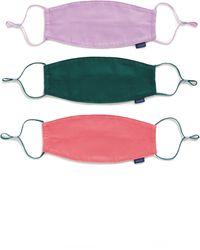 BAGGU Assorted 3-pack Organic Cotton Adult Face Masks, Pink - Multicolor
