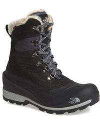 The North Face 'chilkat 400' Waterproof Primaloft Insulated Boot - Black
