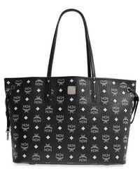 MCM - Medium Liz Reversible Visetos Leather Shopper - - Lyst