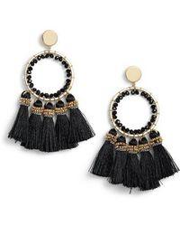 Nakamol - Tassel Hoop Earrings - Lyst