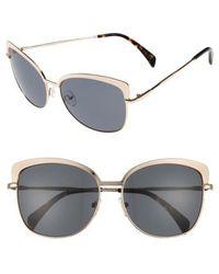Draper James - 60mm Cat Eye Sunglasses - Shiny Gold - Lyst