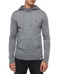 AllSaints Mode Merino Wool Hoodie - Gray