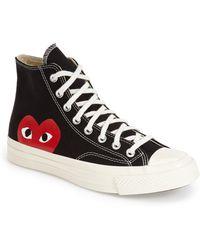 Comme des Garçons Comme Des Garçons Play X Converse Chuck Taylor Hidden Heart High Top Sneaker - Black