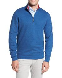 David Donahue - Melange Quarter Zip Pullover - Lyst