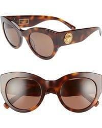 d6f0f5c96d67c Versace - Tribute 51mm Cat Eye Sunglasses - Havana Solid - Lyst