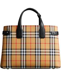 Burberry - Medium Banner Leather Tote - - Lyst