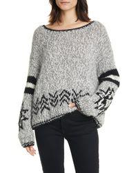 Line Mikaela Wool Blend Sweater - Gray