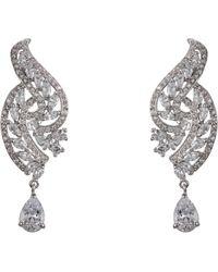 Nina - Swirl Leaf Drop Earrings - Lyst