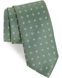 David Donahue Medallion Silk Tie - Green