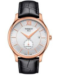 Tissot - Tradition Automatic Leather Strap Watch - Lyst