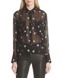 Rag & Bone | Pearson Star Print Silk Blend Shirt | Lyst