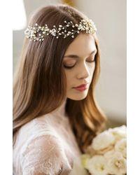 Brides & Hairpins - 'arabella' Jewelled Halo & Sash - Lyst