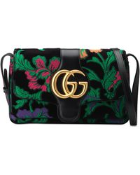 b772b2e98d6eb3 Gucci Gg Marmont Maxi Quilted Floral-jacquard Shoulder Bag in Green ...