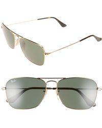 Ray-Ban - Caravan 58mm Aviator Sunglasses - - Lyst