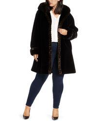 Gallery - Faux Fur Swing Coat - Lyst