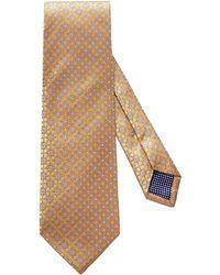 Eton Medallion Silk Tie - Yellow