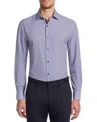 W.r.k. - Slim Fit Performance Stretch Check Dress Shirt - Lyst