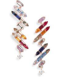 Nadri - Prism Jagged Linear Drop Earrings - Lyst