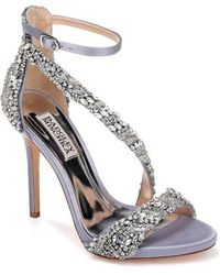 Badgley Mischka - Venice Crystal Embellished Strappy Sandal - Lyst