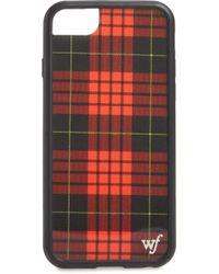 Wildflower Tartan Plaid Iphone 6/7/8 Plus Case - Red