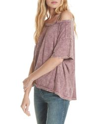 Free People - We The Free By Alex Cutout Tee - Lyst