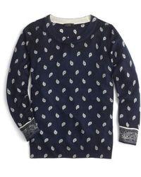 J.Crew | J.crew Bandana Print Tippi Sweater | Lyst