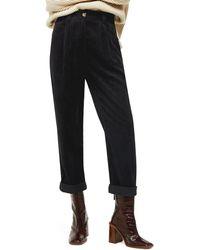 TOPSHOP Elijah Corduroy Pants - Black
