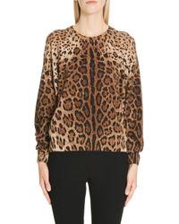 Dolce & Gabbana - Leopard Print Top - Lyst