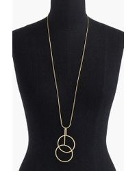 J.Crew | J.crew Double Circle Pendant Necklace | Lyst