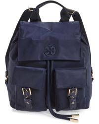 20948a20a77 Lyst - Tory Burch  mini Thea  Backpack - Coral in Pink