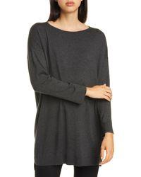 Eileen Fisher - Bateau Neck Sweater - Lyst