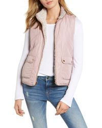Thread & Supply Reversible Fleece Lined Quilted Vest - Multicolor