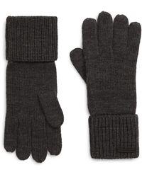 AllSaints Cuffed Knit Gloves - Gray