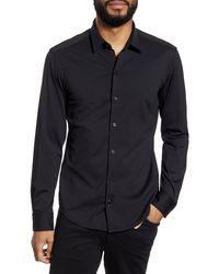 BOSS by Hugo Boss Robbie Regular Fit Button-up Performance Shirt - Black