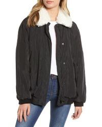 French Connection - Githa Faux Fur Collar Jacket - Lyst