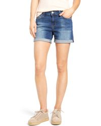 Mavi Jeans Marla Roll Cuff Denim Shorts - Blue
