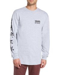 fff4039c03 Lyst - Vans  robles  Colorblock Long Sleeve Henley in Red for Men
