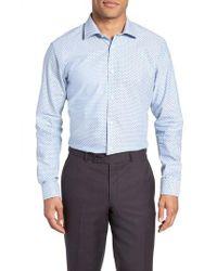 Ted Baker - Forestr Trim Fit Geometric Dress Shirt - Lyst