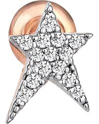 Kismet by Milka - Diamond Star Earring - Lyst