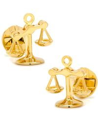Ox and Bull Trading Co. 'scales Of Justice' Cuff Links - Metallic