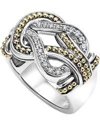Lagos - 'newport' Diamond Knot Ring - Lyst