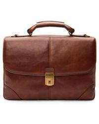 Bosca - Leather Briefcase - Lyst