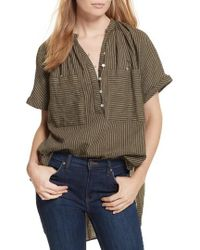 Free People - For Keeps Linen Blend Top - Lyst