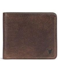 Trask | 'jackson' Slimfold Bison Leather Wallet | Lyst