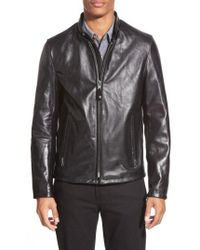 Schott Nyc - Cafe Racer Waxy Cowhide Leather Jacket - Lyst