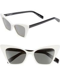b33ca6ab10 Saint Laurent Exaggerated Cat Eye Sunglasses - Lyst