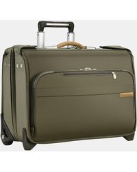 Briggs & Riley Baseline 21-inch Wheeled Carry-on Garment Bag - Green